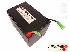 LiFePO4 12V/10Ah hardpack batterij