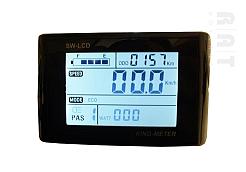 King-Meter SW-LCD display met wartel aansluiting