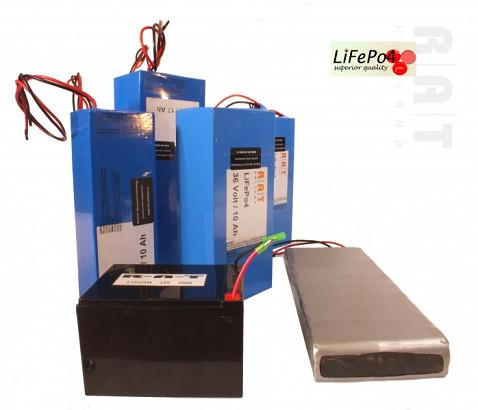 LiFePO4 12V/40Ah softpack batterij