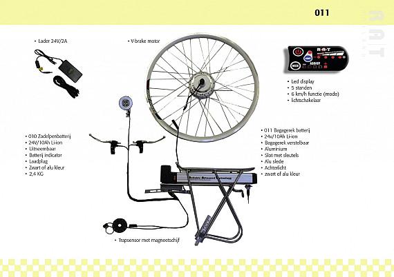Ombouwset 011 Li-ION 24V/10Ah bagagedrager set