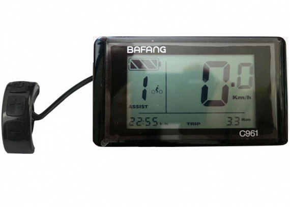 Bafang C961 9 standen LCD display t.b.v. ombouwset 004