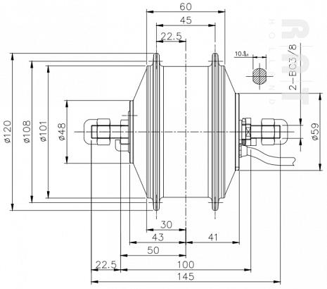 36Volt 250Watt mini-motor 265R