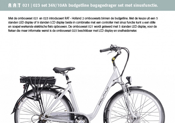 Ombouwset 022 Budgetlijn 36V/10Ah L.E.D.