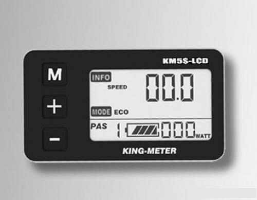 Controller en display set 36Volt met LCD display KM5-S