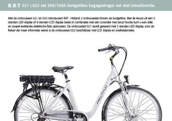 Ombouwset 021 Budgetlijn 36V/8Ah L.E.D.