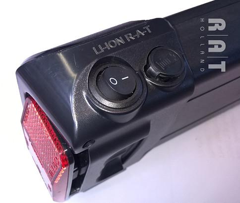 Accuset bagage-drager 36V / 10Ah Li-ION slede-accu 2017+ gratis lader