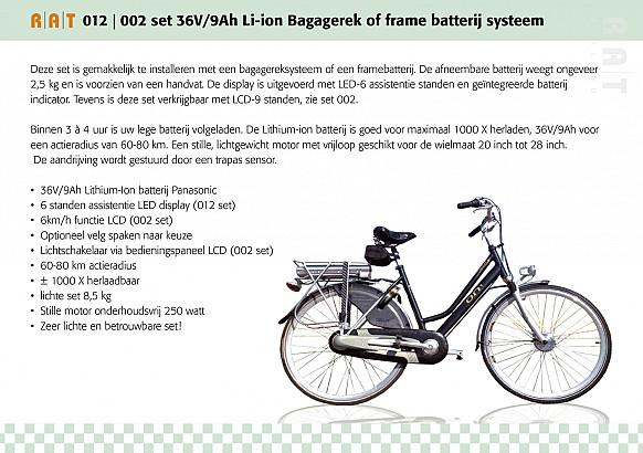 Ombouwset 012 Smartkit 36V/10,4Ah Li-ION