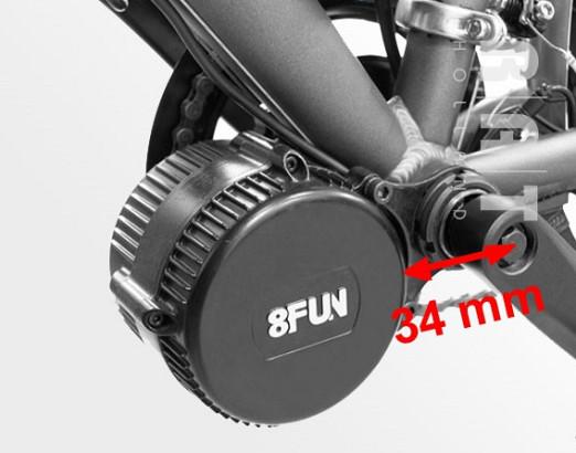 Ombouwset 004 350 Watt middenmotor set 36Volt met LCD-display